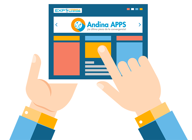 Andina app page